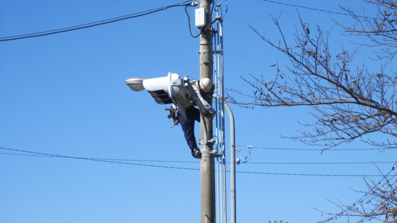 交通信号機設置工事1