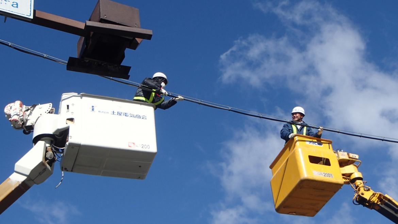 交通信号機設置工事3