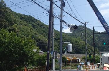 交通信号機設置工事4