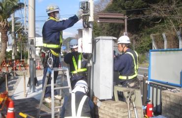 交通信号機設置工事8