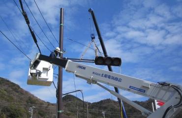 交通信号機設置工事5
