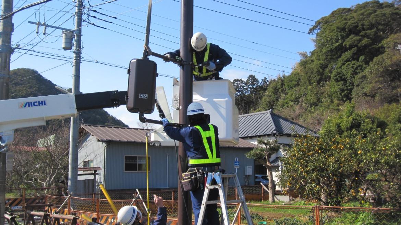 交通信号機設置工事6